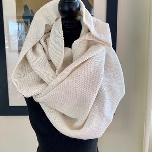 H&M infinity cream scarf . Used once